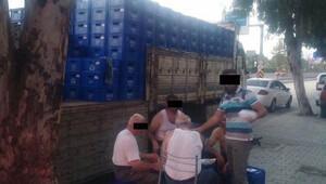 İzmir'de TIR'dan 1080 kasa bira çaldılar
