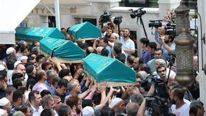 Terör kurbanı yabancı uyruklu 5 kişi birlikte uğurlandı