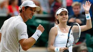 Murray ve Radwanska'dan büyük başarı