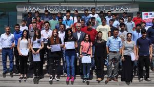 Uşaklı 60 öğrenci Almanya'daki mesleki eğitim kursunu tamamladı