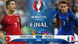 Euro 2016'da perde, bu geceki finalle kapanıyor