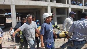 Adıyaman'da AVM inşaatında göçük: 5 yaralı