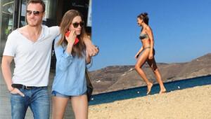 Serenay Sarıkaya ile Kerem Bürsin tatile devam ediyor