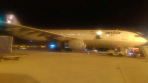 İran uçağı bir günde iki kez acil iniş yaptı