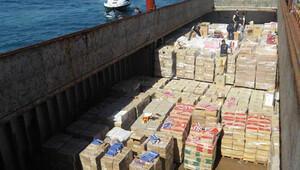 Denizde rekor sayıda kaçak sigara ele geçirildi