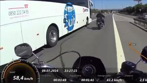 Metro Turizm şoförüyle motosikletçinin kavgası