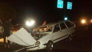 Denizli'de iki otomobil çarpıştı: 1 ölü, 1 yaralı