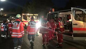 Alman polisi baltalı saldırganı öldürdü
