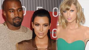 Kim Kardashian, Taylor Swift ve Kanye West arasındaki görüşmeyi yayınladı
