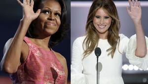 Donald Trump'ın eşi Melania Trump, Michelle Obama'nın konuşmasını 'çaldı'