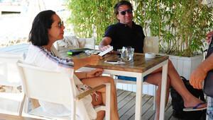Kaya Çilingiroğlu ve eski eşi Feraye Tanyolaç tatilde