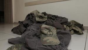 Cemaat okulunda rütbesi sökülmüş 15 askeri üniforma çıktı