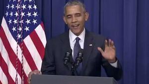 Obama Münih saldırısından bahsederken espri yaptı