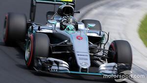 Macaristan'da 2 saat süren sıralamaların galibi Rosberg!