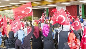 Londralı Suriyelilerden 'Türkiye'ye teşekkür' kutlaması
