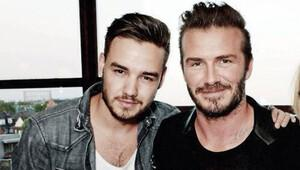 Liam Payne'in arkasında David Beckham var