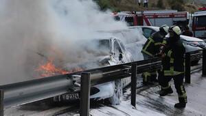TEM'de zincirleme kaza: 8 araç birbirine girdi