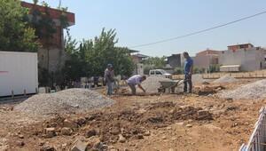 Gazipaşa'da meydan çalışması