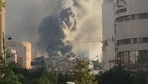 Ataşehir'de büyük yangın!