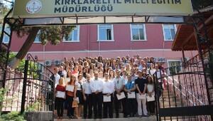 Kırklareli'de aday öğretmenler eğitim sürecini tamamladı