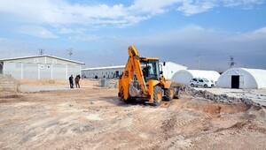 Çadır Kentte Prefabrik Sınıflar Kuruluyor