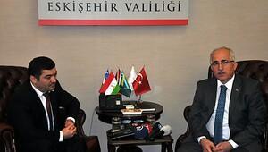 Tacikistanın Ankara Büyükelçisi Şaripov, Eskişehirde