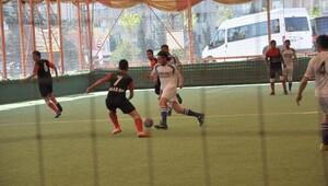 Çadır kentte futbol turnuvası tamamlandı