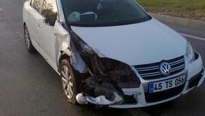 Turgutluda trafik kazası, 4 yaralı