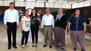 Başkan Turgut'un pazar turu