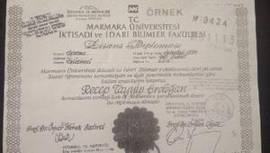 HDP, Cumhurbaşkanı Erdoğanın diploma örneğini paylaştı