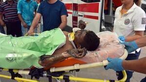 Tamirhanedeki atık yağ varili patladı 13 yaşındaki çırak ağır yaralandı