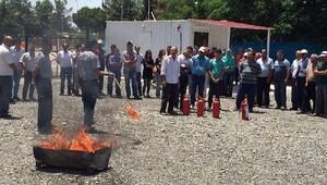 Çadır kentte yangın tatbikatı
