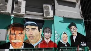 Yeşilçam sanatçıları duvarları süsledi