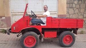 64 yıllık baba yadigarı kamyonetle geçmişi yaşıyor