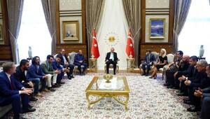 Spor camiasından Cumhurbaşkanı Erdoğan'a ziyaret