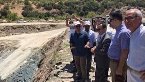 Kilis'te Vali ve Belediye Başkanı barajda inceleme yaptı