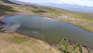 Erzurum'un göletleri çiftçinin yüzünü güldürüyor