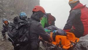 Kaçkarlarda düşen genç dağcı için 33 saat süren operasyon