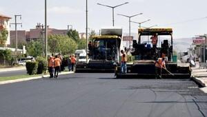 Afyonkarahisar- Ankara yoluna modifiye asfalt