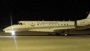 Prematüre ikizlere ambulans uçak