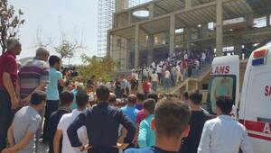 Mardin'de cami inşaatı çöktü: 5 işçi yaralı