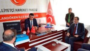 Erzurum'da AK Parti'den MHP'ye ziyaret