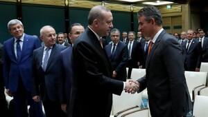 Cumhurbaşkanı Erdoğan, TBB Başkanı Metin Feyzioğlu ve beraberindeki heyeti kabul etti (2)