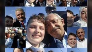 Türkiye bu çocuğu konuşuyor! 11 yaşında herkesle selfie çektirdi