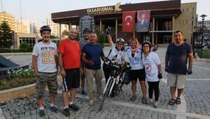 50 yaşındaki kadın öğretmen, bisikletle Tekirdağ'dan Adana'ya geldi