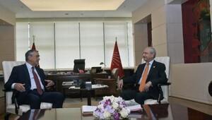 KKTC Cumhurbaşkanı Akıncı, Kılıçdaroğlu'nu ziyaret etti