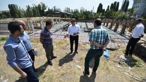 Başkan Çetin belediye binası inşaatını denetledi