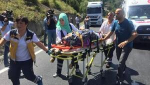 Bolu Dağı'nda kaza, 10 yaralı