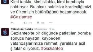 Trabzonspor, Gaziantep'teki terör saldırısını kınadı