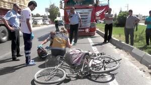 Kamyonun çarptığı bisiklet sürücüsü öldü